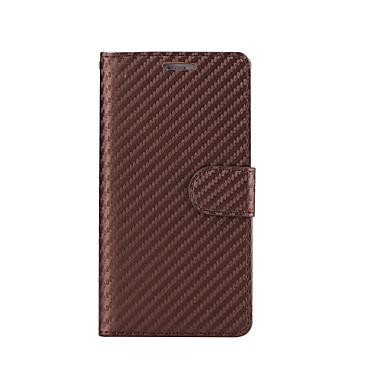 Για Θήκες Καλύμματα Πορτοφόλι Θήκη καρτών με βάση στήριξης Ανοιγόμενη Πλήρης κάλυψη tok Μονόχρωμη Σκληρή Συνθετικό δέρμα για AppleiPhone
