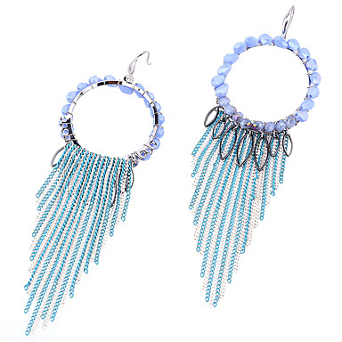 Σκουλαρίκια Σετ Κρυστάλλινο Λατρευτός Εξατομικευόμενο Euramerican μινιμαλιστικό στυλ Κράμα Μπλε Κοσμήματα Για Γάμου Πάρτι 1 ζευγάρι