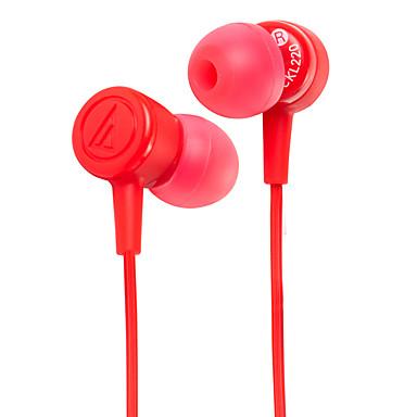 الصوت-تكنيكا أث-ckl220 المحمول سماعة للكمبيوتر في الأذن السلكية البلاستيك 3.5 ملليمتر الضوضاء إلغاء