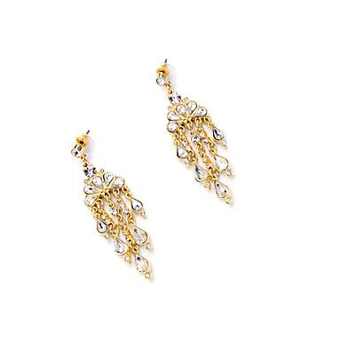 Κρίκοι Κρυστάλλινο Εξατομικευόμενο χαριτωμένο στυλ Euramerican Λατρευτός Χρυσό Κοσμήματα Για Γάμου Πάρτι Γενέθλια 1 ζευγάρι