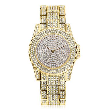 Pentru femei Ceasuri Pave Simulat Diamant Ceas Unic Creative ceas Ceas de Mână Ceas Elegant  Ceas La Modă Chineză Quartz Stras / Oțel