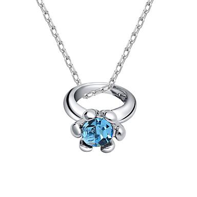 Kadın's Uçlu Kolyeler Mücevher Eşsiz Tasarım Moda Kişiselleştirilmiş Euramerican Mor Kırmzı Açık Mavi Mücevher Için Düğün Parti 1pc