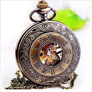 Χαμηλού Κόστους Ανδρικά ρολόγια-Ανδρικά Ρολόι Τσέπης Χαλαζίας Μπρονζέ Αναλογικό Steampunk - Καφέ