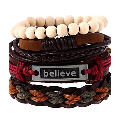 Bracelets en cuir - Cuir Rétro, Mode Bracelet Arc-en-ciel Pour Mariage / Soirée / Sports