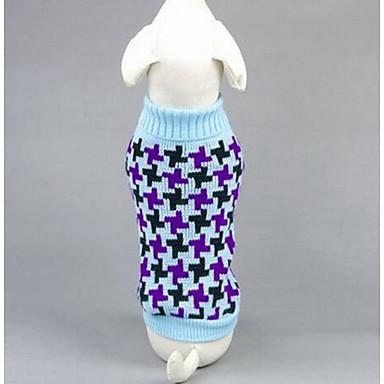 Pies Swetry Ubrania dla psów Codzienne Modny Rysunek Niebieski Różowy Kostium Dla zwierząt domowych