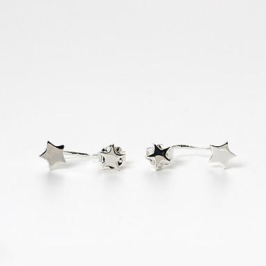 Kadın's Vidali Küpeler Eşsiz Tasarım Moda kostüm takısı Som Gümüş Star Shape Mücevher Uyumluluk Günlük