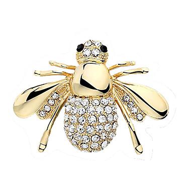 Dames Broches Kristal leuke Style Europees Strass Legering Sieraden Voor Bruiloft Feest Verjaardag Verloving Lahja Dagelijks Causaal