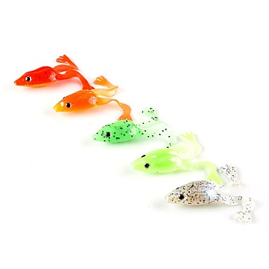 5 buc Momeală moale Δόλωμα Broască Plastic moale Pescuit mare Filare Pescuit la Oscilantă Pescuit de Apă Dulce Pescuit în General Momeală