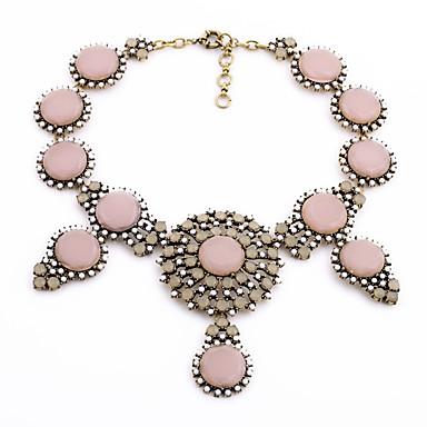 Damskie Pasemka Naszyjniki Kryształ Postarzane Osobiste euroamerykańskiej Brown Różowy Biżuteria Na Ślub Impreza 1szt