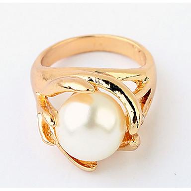Heren Dames Bandringen Ring Imitatie Parel Gepersonaliseerde Uniek ontwerp Logostijl Klassiek Vintage Bohémien Standaard Vriendschap Punk