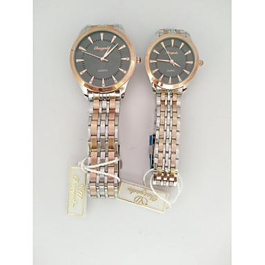 Voor Stel Dress horloge Kwarts Roestvrij staal Band Meerkleurig