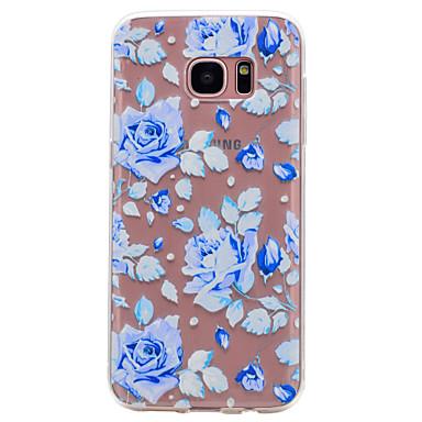 hoesje Voor Samsung Galaxy S8 Plus S8 Transparant Patroon Achterkantje Bloem Zacht TPU voor S8 S8 Plus S7 edge S7 S6 edge S6 S5 Mini S5