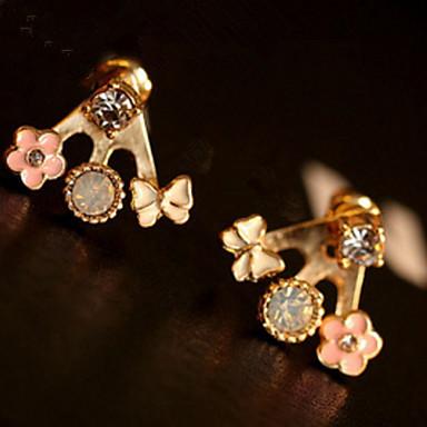 Dames Oorknopjes Druppel oorbellen Bergkristal Gepersonaliseerde Bloemen Religieuze sieraden Luxe Meetkundig Uniek ontwerp Logostijl