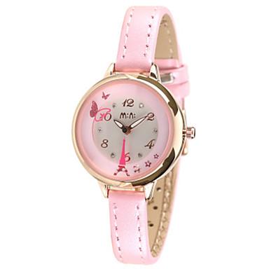 Dames Modieus horloge Japans Kwarts / Echt leer Band Vrijetijdsschoenen Blauw Roze