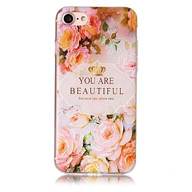Pouzdro Uyumluluk Apple iPhone 7 Plus iPhone 7 Temalı Süslü Arka Kapak Çiçek Yumuşak TPU için iPhone 7 Plus iPhone 7 iPhone 6s Plus