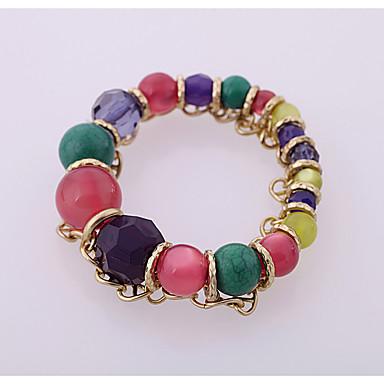 Damskie Bransoletki Strand Biżuteria Przyjaźń Modny Stop Round Shape Rainbow Biżuteria Na Impreza Urodziny 1szt