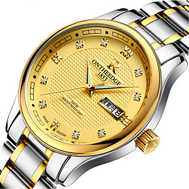 Heren Dress horloge Modieus horloge Kwarts Kalender Legering Band Zilver