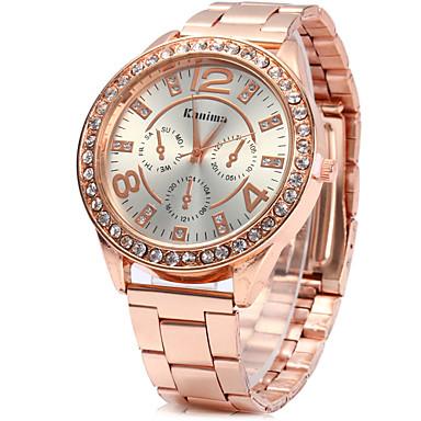 Pentru femei Simulat Diamant Ceas Ceas Elegant  Ceas La Modă Chineză Quartz Stras imitație de diamant Aliaj Bandă Vintage Argint Auriu