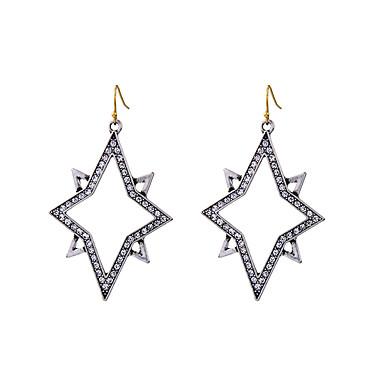 Kolczyki koła Kryształ Unikalny Osobiste euroamerykańskiej Silver Biżuteria Na Ślub Impreza Urodziny 1 para
