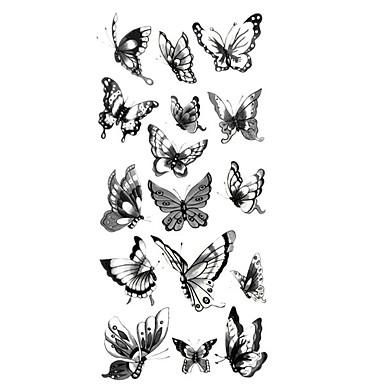 Tattoo Aufkleber Tier Serie Muster Unterer Rückenbereich WaterproofDamen Herren Teen Flash-Tattoo Temporary Tattoos