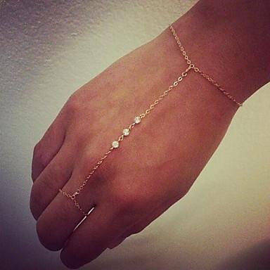 للمرأة أساور السلسلة والوصلة أساور خاتم مجوهرات بوهيميان مصنوع يدوي سبيكة Circle Shape مجوهرات مناسبة خاصة الذكرى السنوية عيد ميلاد هدية