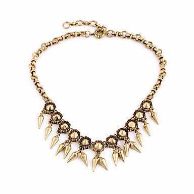 Kadın's Tellerinin Kolye Kristal Eski Tip Kişiselleştirilmiş Euramerican Altın Mücevher Için Düğün Parti