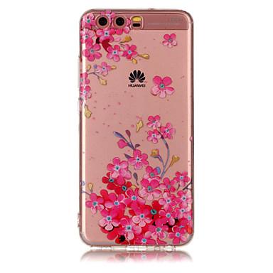 Huawei p8 lite için (2017) p10 lite tpu malzeme imd işlemi erik çiçek desen telefon durumda p10 p9 lite p8 lite