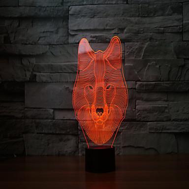 Yeni 2017 kurt 3 d lamba 7 renkli dokunmatik şarj edilebilir ledli görsel ışık projeksiyon lambası dokunmatik lambalar