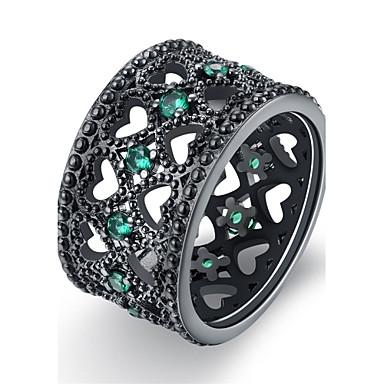 Damen Ring Kristall Kubikzirkonia Personalisiert Luxus Geometrisch Einzigartiges Design Klassisch Retro Böhmische Grundlegend Herz
