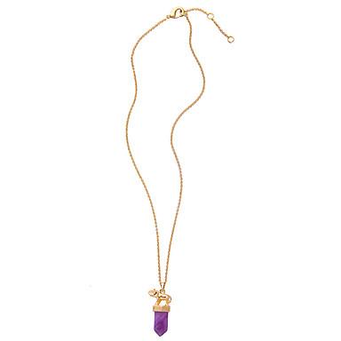 Kadın's Uçlu Kolyeler Bullet Shape Eşsiz Tasarım Kişiselleştirilmiş Mor Mücevher Için 1pc
