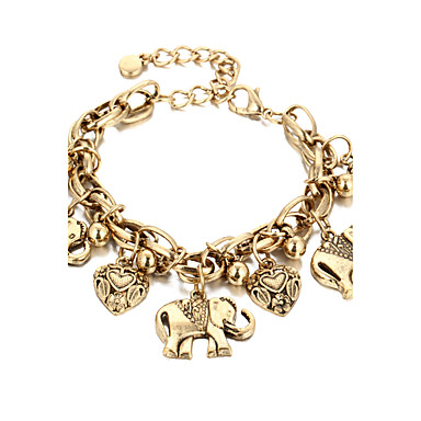 Dames Enkelring /Armbanden Legering Vintage Kostuum juwelen Olifant Sieraden Voor Dagelijks Causaal