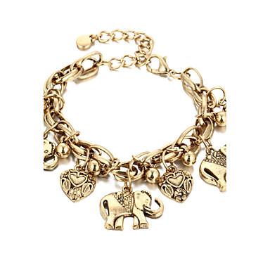 Damen Fusskettchen/Armbänder Aleación Vintage Modeschmuck Elefant Schmuck Für Alltag Normal
