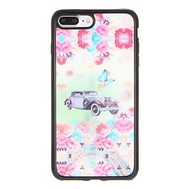 Için Kılıflar Kapaklar Temalı Arka Kılıf Pouzdro Çiçek Kelebek Yumuşak TPU için AppleiPhone 7 Plus iPhone 7 iPhone 6s Plus iPhone 6 Plus