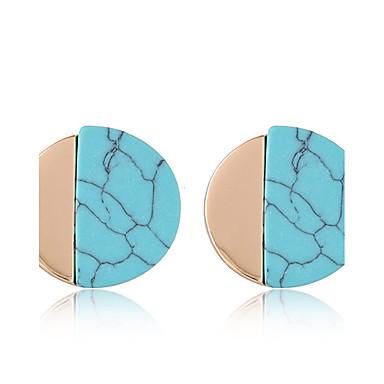 Γυναικεία Κουμπωτά Σκουλαρίκια Μοντέρνα Euramerican Ρητίνη Κράμα Round Shape Κοσμήματα Για Καθημερινά