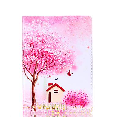 لسامسونج غالاكسي تبويب 9.7 a 7.0 e 9.6 حالة تغطية زهرة شجرة نمط بطاقة الدعامات بو المواد شقة حماية قذيفة