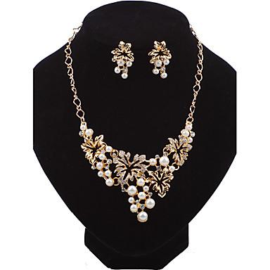 Pentru femei Seturi de bijuterii Cercei Stud Lănțișor La modă Euramerican Perle Aliaj Flower Shape Pentru Nuntă Petrecere Ocazie specială