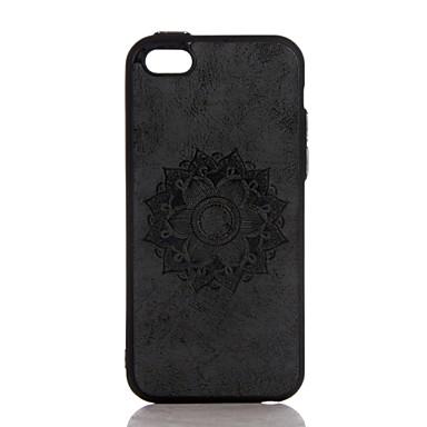 Kılıf Na Apple iPhone 7 Plus iPhone 7 Wytłaczany wzór Czarne etui Mandala Twarde Skóra PU na iPhone 7 Plus iPhone 7 iPhone 6s Plus iPhone