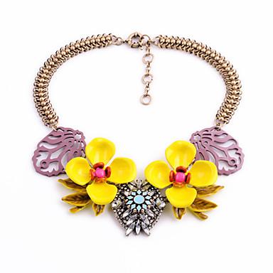 Pentru femei Toroane Coliere Flower Shape Personalizat bijuterii de lux Galben Bijuterii Pentru Nuntă 1 buc