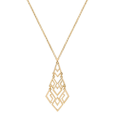 Γυναικεία Geometric Shape Μοναδικό Κρεμαστό Χειροποίητο Χιπ-Χοπ μινιμαλιστικό στυλ Πανκ Κρεμαστά Κολιέ Κοσμήματα Χρώμιο Κρεμαστά Κολιέ