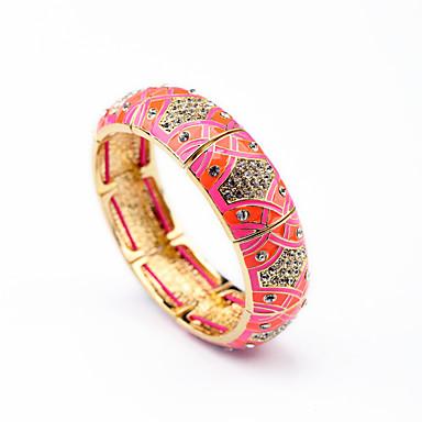 Kadın's Bilezikler Mücevher Arkadaşlık lüks mücevher alaşım Round Shape Mücevher Uyumluluk Parti Özel Anlar