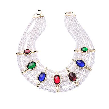 Damskie Naszyjniki choker Kryształ Modny Osobiste euroamerykańskiej minimalistyczny styl Rainbow Biżuteria Na Ślub Impreza 1szt