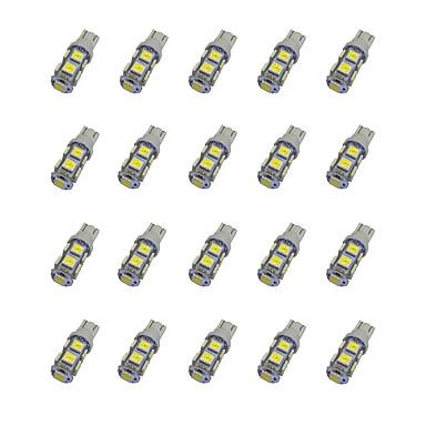 20pcs T10 Mașină Becuri 1.2 W SMD 5050 85 lm LED Lumini de interior