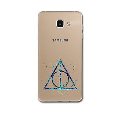 Maska Pentru Samsung Galaxy A5(2017) A3(2017) Ultra subțire Model Carcasă Spate Model Geometric Moale TPU pentru A3 (2017) A5 (2017) A7