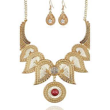 Γυναικεία Συνθετικό Diamond Λουλούδι Κοσμήματα Σετ 1 Κολιέ / 1 Ζευγάρι σκουλαρίκια - Λουλουδάτο Χρυσό / Ασημί Κολιέ / Σκουλαρίκια Για