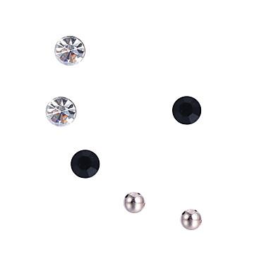 للمرأة مجموعة مجوهرات أقراط - ترف تصميم دائري تصميم فريد بوهيميان مصنوع يدوي اسلوب لطيف مطاطية Circle Shape أسود مجموعة مجوهرات من أجل