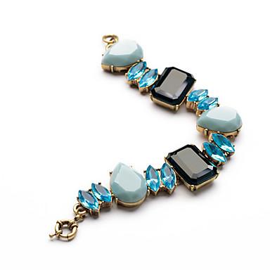 Damskie Bransoletki i łańcuszki na rękę Biżuteria Przyjaźń Modny Stop Square Shape Kropla Niebieski Biżuteria Na Ślub 1szt
