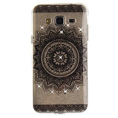 غطاء من أجل Samsung Galaxy J5 (2016) J3 (2016) حجر كريم IMD شفاف غطاء خلفي ماندالا نمط ناعم TPU إلى J5 Prime J5 (2016) J3 Prime J3 J3