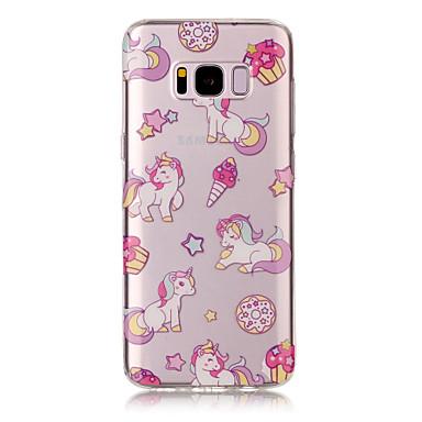 غطاء من أجل Samsung Galaxy S8 Plus S8 IMD شفاف نموذج غطاء خلفي آحادي القرن ناعم TPU إلى S8 S8 Plus S7 edge S7 S6 edge S6 S5
