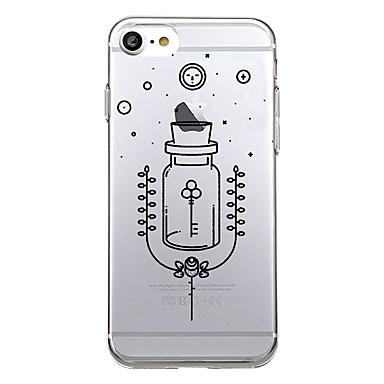 Varten kotelot kuoret Ultraohut Kuvio Takakuori Etui Kukka Pehmeä TPU varten AppleiPhone 7 Plus iPhone 7 iPhone 6s Plus iPhone 6 Plus