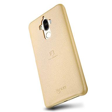 Pouzdro Uyumluluk Huawei Ultra İnce Arka Kılıf Tek Renk Yumuşak PU Deri için Huawei P10 Plus Huawei P10 Huawei P9 Huawei P9 Lite Huawei
